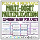 Multi-Digit Multiplication Task Cards Word Problems Differ