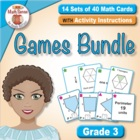 Multi-Match Cards BUNDLE: 6 Sets of Area and Perimeter Game Cards