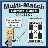 Multi-Match K-2 Games Guide with Create-A-Game Templates
