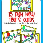 Multi-Purpose New Year's Word Cards