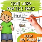 Multi-Sensory Sight Word Practice Pages - First Grade Set