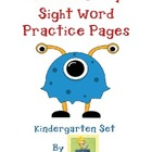 Multi-Sensory Sight Word Practice Pages - Kindergarten Set