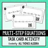 Multi-Step Equations Task Cards - with QR Codes