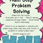 Multi Step Problem Solving Pack, All Operations