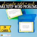 Multi Step Word Problem Scoot- Simple Addition and Subtraction
