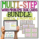 Multi-Step Word Problems Task Card BUNDLE