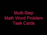 Multi-Step Word Problems (Task Cards)