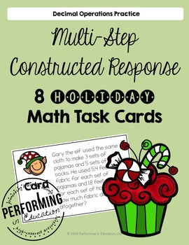 Multi-step Constructed Response Decimal Task Cards for Hol