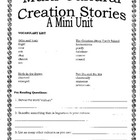 Multicultural Creation Stories-Mini Unit