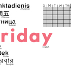 Multilingual Days of the Week