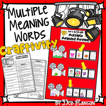 Multiple Meaning Words Movie Craftivity- Matching Sentence