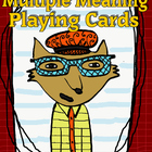 Multiple Meaning Words Playing Cards