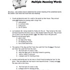Multiple Meaning Words Worksheet 2