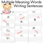 Multiple Meaning Words Writing Assignment