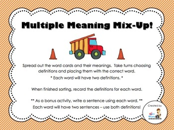 Multiple Meanings Mix-Up