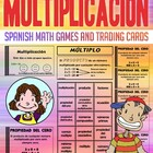 Multiplicacion - Tarjetas De Intercambio - Spanish Math Ga