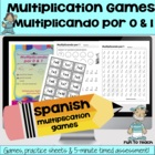 Multiplicando Por 0/1 - Spanish Multiplication Math Games/