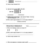Multiplication - 5 Minute Checks - daily reviews - arrays,