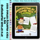 Multiplication 5-Minute Timed Test - Multiplying by 4 and