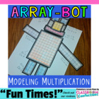 Multiplication Array-Bot  {Math Workshop Activity}