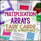 Multiplication Array Task Cards Common Core Aligned
