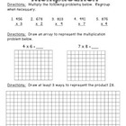Multiplication Assessment (3-digit by 1-digit, arrays, wor