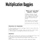 Multiplication Baggies