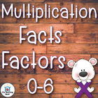 Multiplication Basic Facts 0-6's Factor Practice Sheets