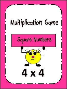 Multiplication Center Game: Square Numbers