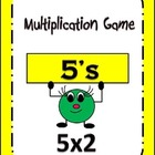 Multiplication Center Game: by 5