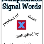 Multiplication Clue Words Poster
