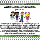 Multiplication Concentration (6 and 7)