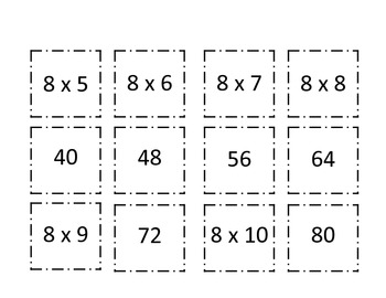 Multiplication Concentration (8 and 9)
