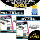 Multiplication &amp; Division File Folder Games Bundled Set (2