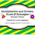 Multiplication &amp; Division Rules and Strategies- monster &amp; 