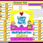 Multiplication Eights Math Center Station Game