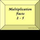 Multiplication Electronic Flash Cards- Set A