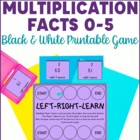 Multiplication Facts Game- Left Right Learn