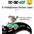 "Multiplication Facts Game ""Tic-Tac-Go!"" Partner Activity"