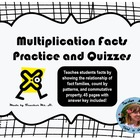 Multiplication Facts Practice and Quizzes