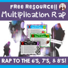 Multiplication Facts Rap Game Activity for 6, 7, and 8s