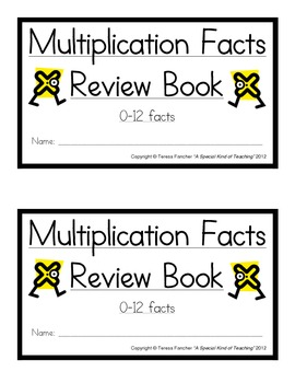 Multiplication Facts Review Booklet: 0-12 Facts