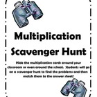 Multiplication Facts Scavenger Hunt