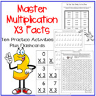 Multiplication Facts X3 Practice Activities