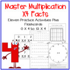 Multiplication Facts X4 Practice Activities