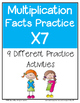 Multiplication Facts X7 Worksheets