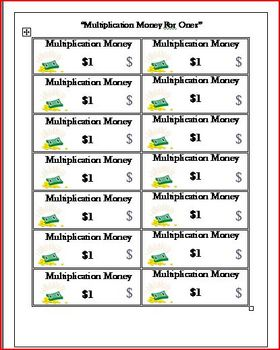 Multiplication Facts Year Long Activity (Meets Common Core