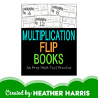 Multiplication Flip Books- print and go