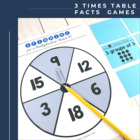 Multiplication Flip & Match Games with the 3 Times Table