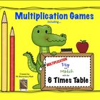 Multiplication Flip & Match Games with the 6 Times Table